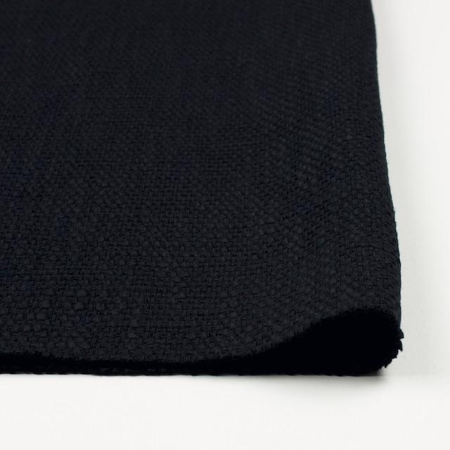 コットン&リネン×無地(ネイビーブラック)×ホップサック(斜子織) イメージ3