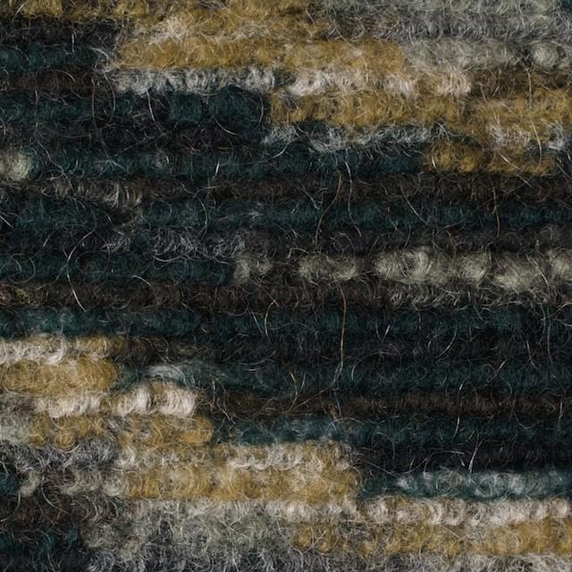 モヘア&ウール混×幾何学模様(オーカー、グレー&モスグリーン)×ループニット_全4色_イタリア製 イメージ1