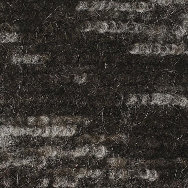 モヘア&ウール混×幾何学模様(グレー&チャコールブラウン)×ループニット_全4色_イタリア製 イメージ1