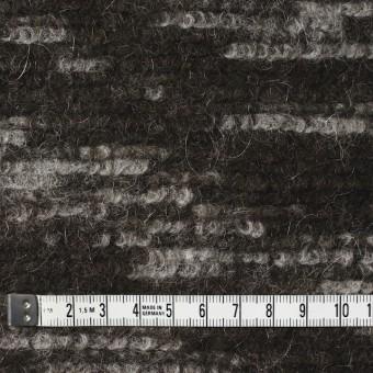 モヘア&ウール混×幾何学模様(グレー&チャコールブラウン)×ループニット_全4色_イタリア製 サムネイル4