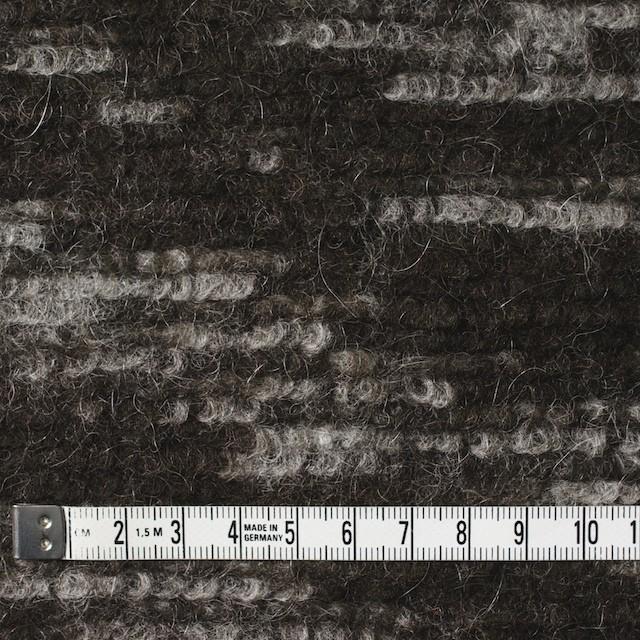 モヘア&ウール混×幾何学模様(グレー&チャコールブラウン)×ループニット_全4色_イタリア製 イメージ4