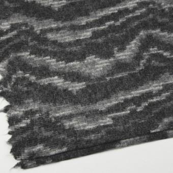 モヘア&ウール混×幾何学模様(グレーミックス)×ループニット_全4色_イタリア製 サムネイル2