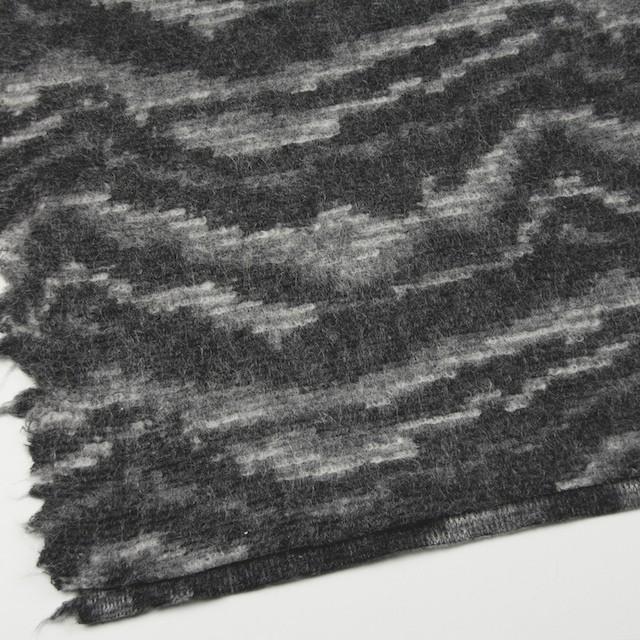 モヘア&ウール混×幾何学模様(グレーミックス)×ループニット_全4色_イタリア製 イメージ2