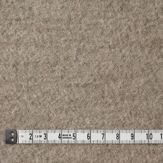 ウール×無地(アッシュベージュ)×圧縮メッシュニット_全5色 イメージ4