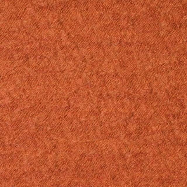 ウール×無地(オレンジ)×圧縮メッシュニット_全5色 イメージ1