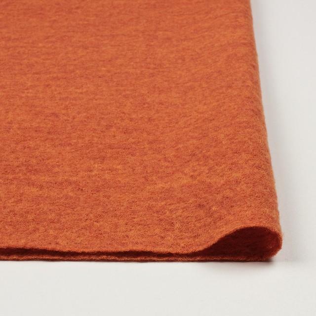 ウール×無地(オレンジ)×圧縮メッシュニット_全5色 イメージ3