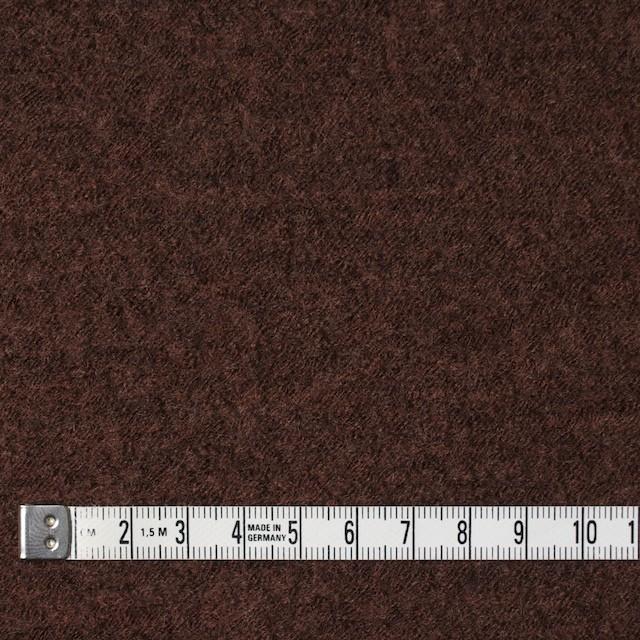 ウール×無地(ダークマホガニー)×圧縮メッシュニット_全5色 イメージ4
