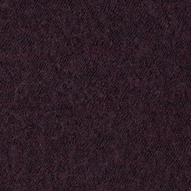 ウール×無地(ダークパープル)×圧縮メッシュニット_全5色 イメージ1