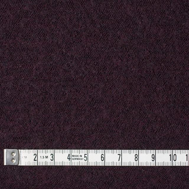 ウール×無地(ダークパープル)×圧縮メッシュニット_全5色 イメージ4