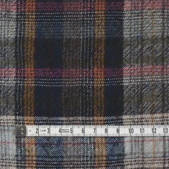 ウール&コットン×チェック(ブルーミックス)×ビエラ_全2色_イタリア製 サムネイル4