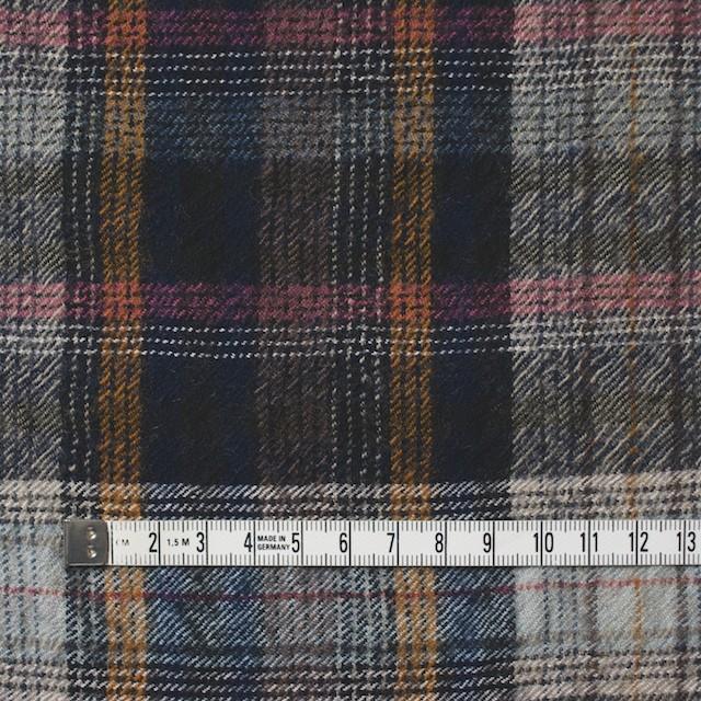 ウール&コットン×チェック(ブルーミックス)×ビエラ_全2色_イタリア製 イメージ4