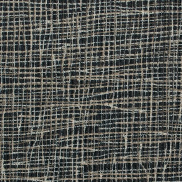 コットン&幾何学模様(カーキベージュ&ブラック)×中コーデュロイ イメージ1