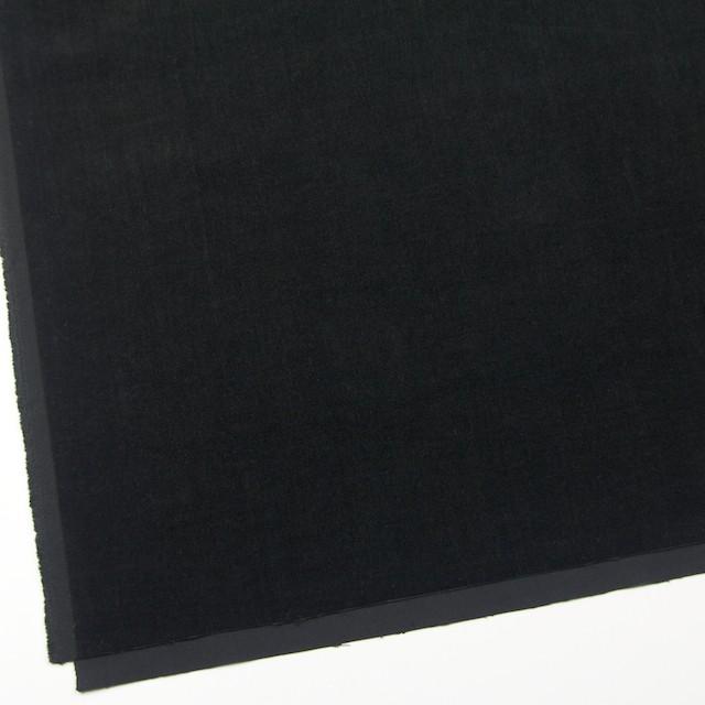 コットン&ポリウレタン×無地(ブラック)×ベッチン・ストレッチ イメージ2