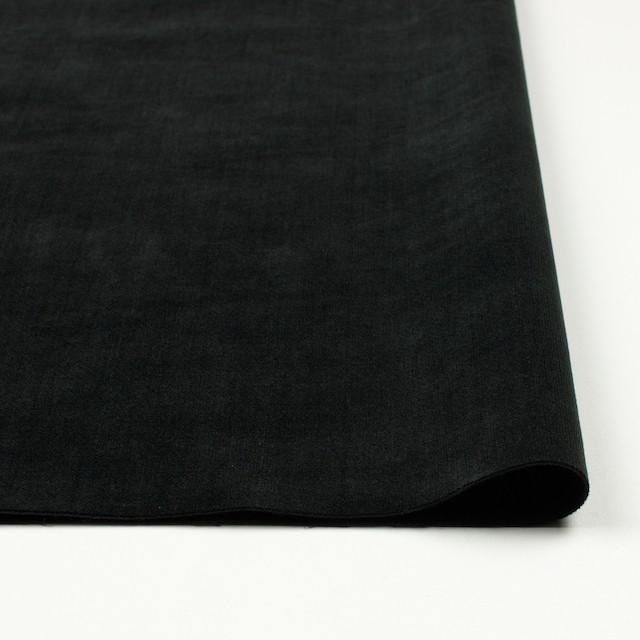 コットン&ポリウレタン×無地(ブラック)×ベッチン・ストレッチ イメージ3