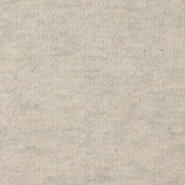 コットン×無地(キナリ&グレー)×裏毛ニット イメージ1
