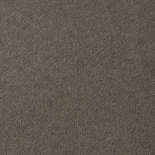 コットン×無地(チャコールブラウン)×裏毛ニット_全3色 イメージ1