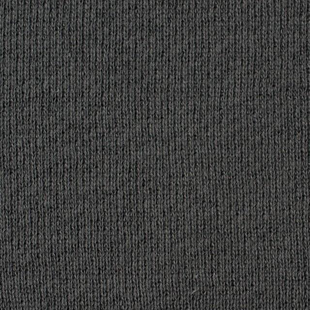 コットン×無地(スチールグレー)×裏毛ニット イメージ1