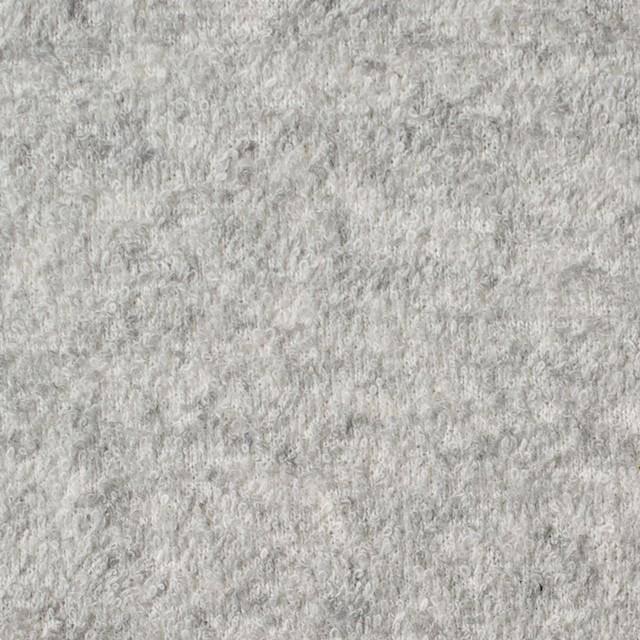 コットン×無地(ライトグレー)×パイル裏毛ニット イメージ1