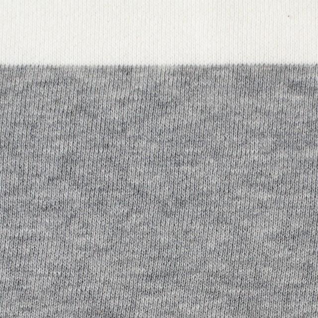 コットン×ボーダー(ホワイト&グレー)×裏毛ニット イメージ1