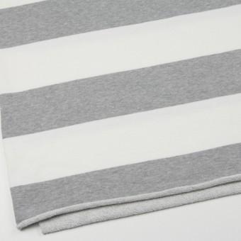 コットン×ボーダー(ホワイト&グレー)×裏毛ニット サムネイル2