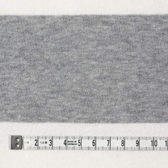 コットン×ボーダー(ホワイト&グレー)×裏毛ニット サムネイル4