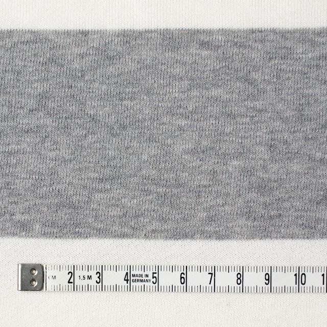コットン×ボーダー(ホワイト&グレー)×裏毛ニット イメージ4