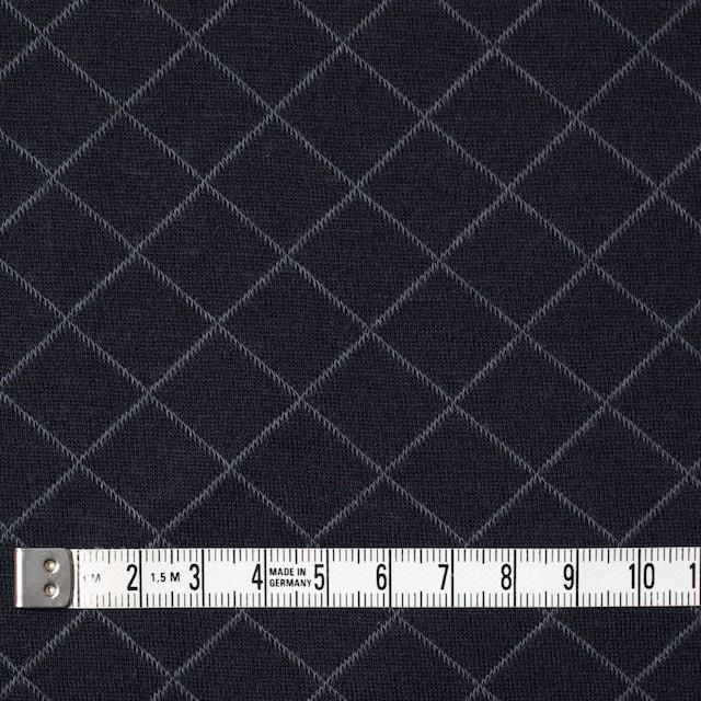 コットン&リヨセル×アーガイル(ネイビー)×W天竺ニット_全2色 イメージ4