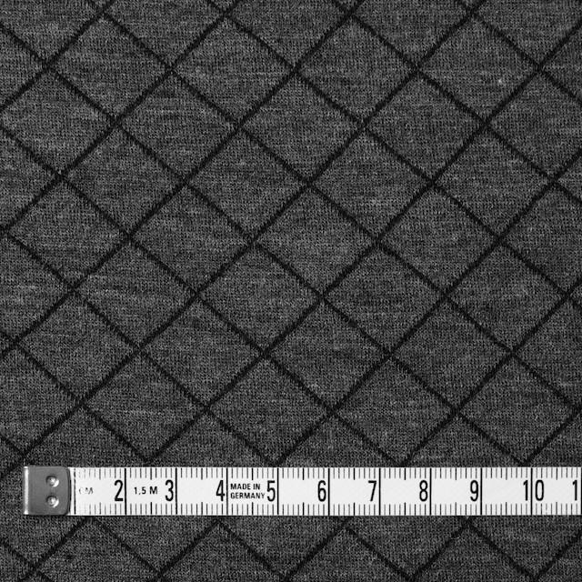 コットン&リヨセル×アーガイル(チャコールグレー)×W天竺ニット_全2色 イメージ4