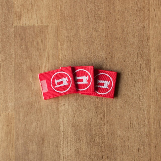 fab-fabricオリジナルタグ(レッド)_3枚セット イメージ3