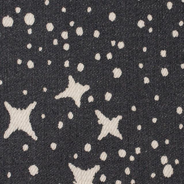 コットン&ポリウレタン×スター(チャコールブラック)×カツラギストレッチ_全2色 イメージ1
