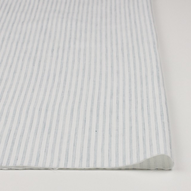 コットン×ストライプ(オフホワイト&ブルーグレー)×Wガーゼ イメージ3