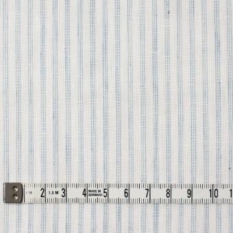 コットン×ストライプ(オフホワイト&ブルーグレー)×Wガーゼ サムネイル4
