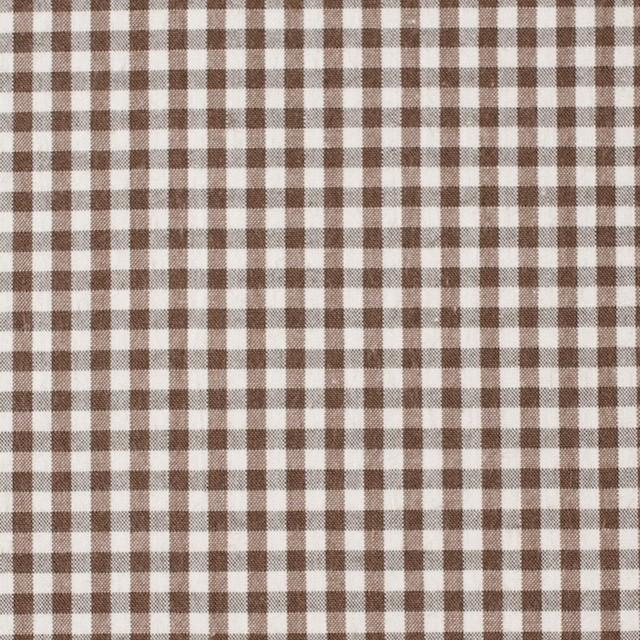 コットン×チェック(ブラウン)×ブロード イメージ1