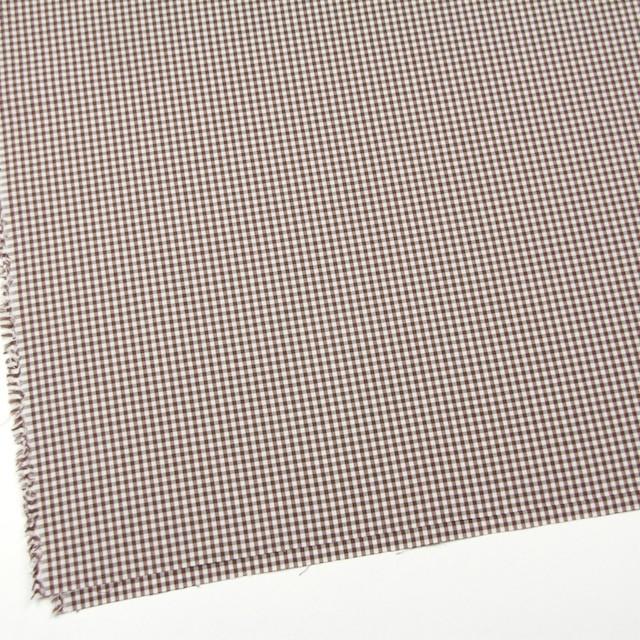 コットン×チェック(ブラウン)×ブロード イメージ2