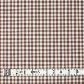 コットン×チェック(ブラウン)×ブロード サムネイル4