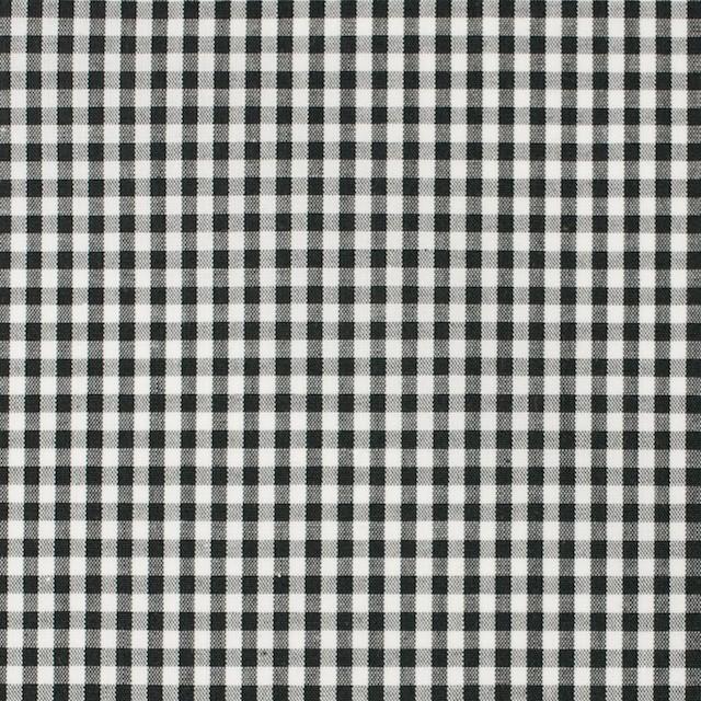 コットン×チェック(ブラック)×ブロード イメージ1