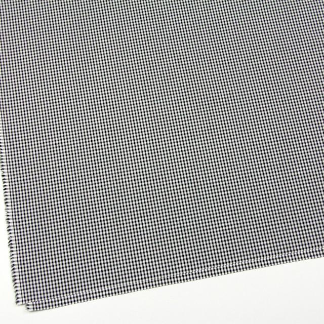 コットン×チェック(ブラック)×ブロード イメージ2