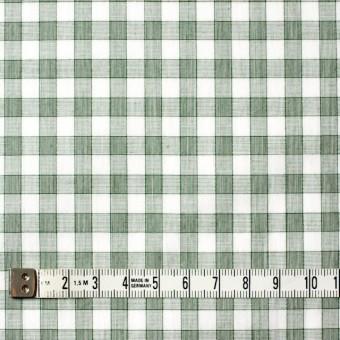 コットン×チェック(グリーン)×ブロード サムネイル4