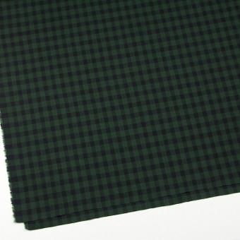コットン×チェック(グリーン&ブラック)×薄サージ サムネイル2