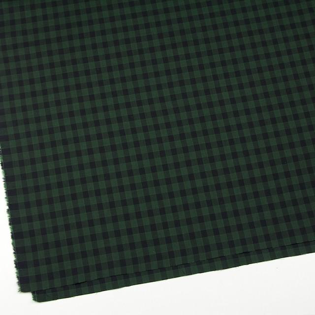 コットン×チェック(グリーン&ブラック)×薄サージ イメージ2