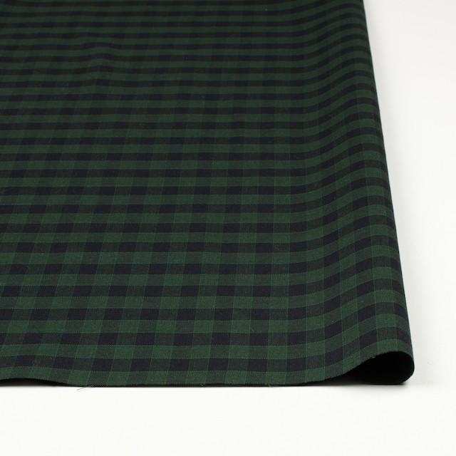 コットン×チェック(グリーン&ブラック)×薄サージ イメージ3