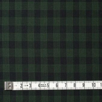 コットン×チェック(グリーン&ブラック)×薄サージ サムネイル4