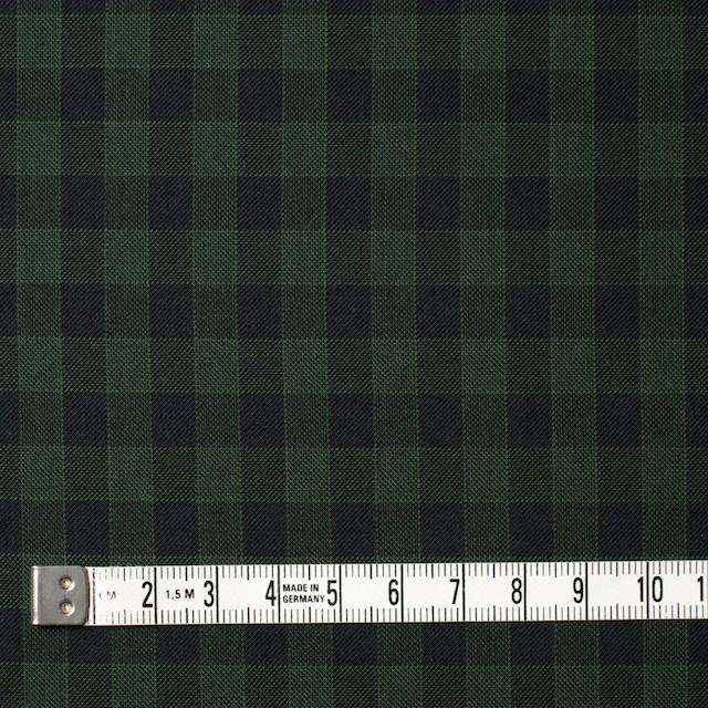 コットン×チェック(グリーン&ブラック)×薄サージ イメージ4