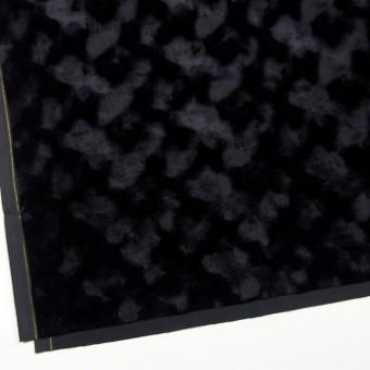 レーヨン&ポリエステル×無地(ブラック)×ベルベット_全2色 サムネイル2