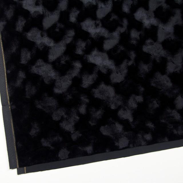 レーヨン&ポリエステル×無地(ブラック)×ベルベット_全2色 イメージ2