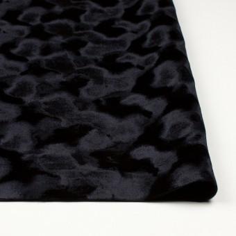 レーヨン&ポリエステル×無地(ブラック)×ベルベット_全2色 サムネイル3