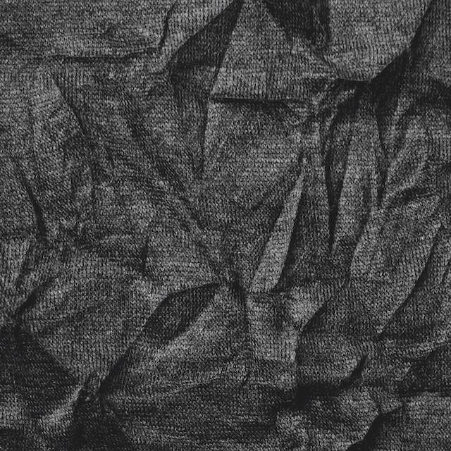 リヨセル&ポリエステル×無地(チャコールグレー)×天竺ニットワッシャー イメージ1