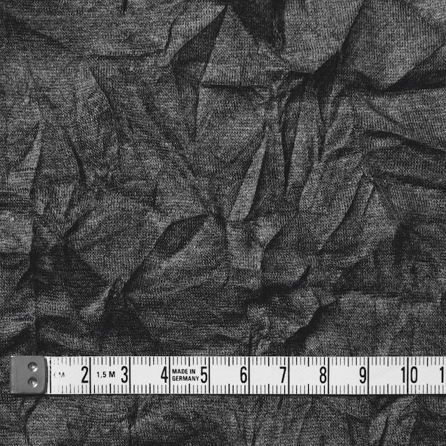 リヨセル&ポリエステル×無地(チャコールグレー)×天竺ニットワッシャー イメージ4