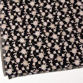ナイロン×フラワー(ピンクベージュ&ブラック)×チュールレース サムネイル2