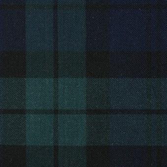 コットン×チェック(ブラックウォッチ)×薄サージ サムネイル1